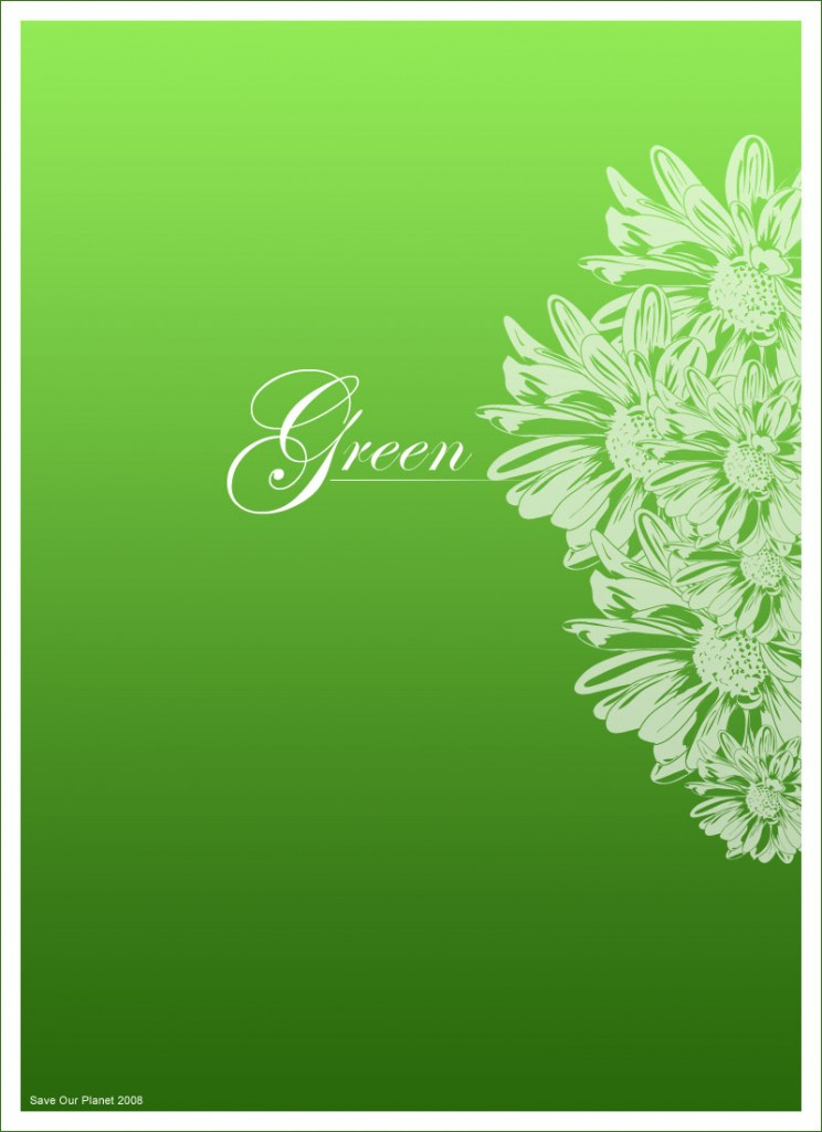 Go Green - Flyer Desgn